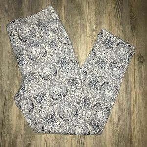 ‼️TOPSHOP LIKE NEW JACQUARD ANKLE PANTS US SIZE: 6